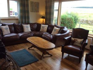 Corbie Holiday Cottage lounge, Forfar