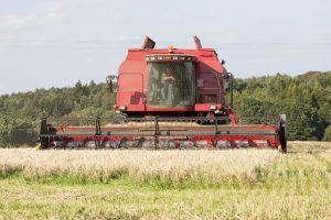 Farmer Graeme Combining